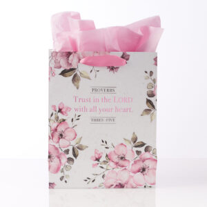 """""""Trust in the Lord"""" Medium Gift Bag – Proverbs 3:5"""