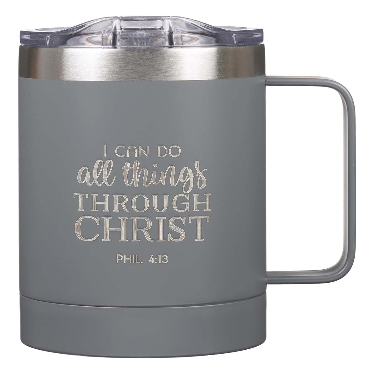 I Can Do All Things Camp Gray Style Stainless Steel Mug – Philippians 3:14