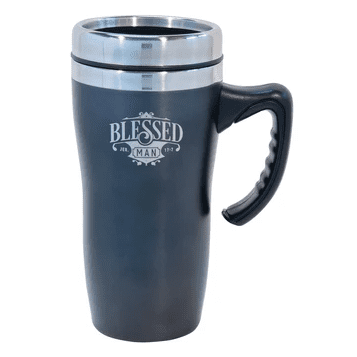 Blessed Man (Stainles Steel Mug with Handle)