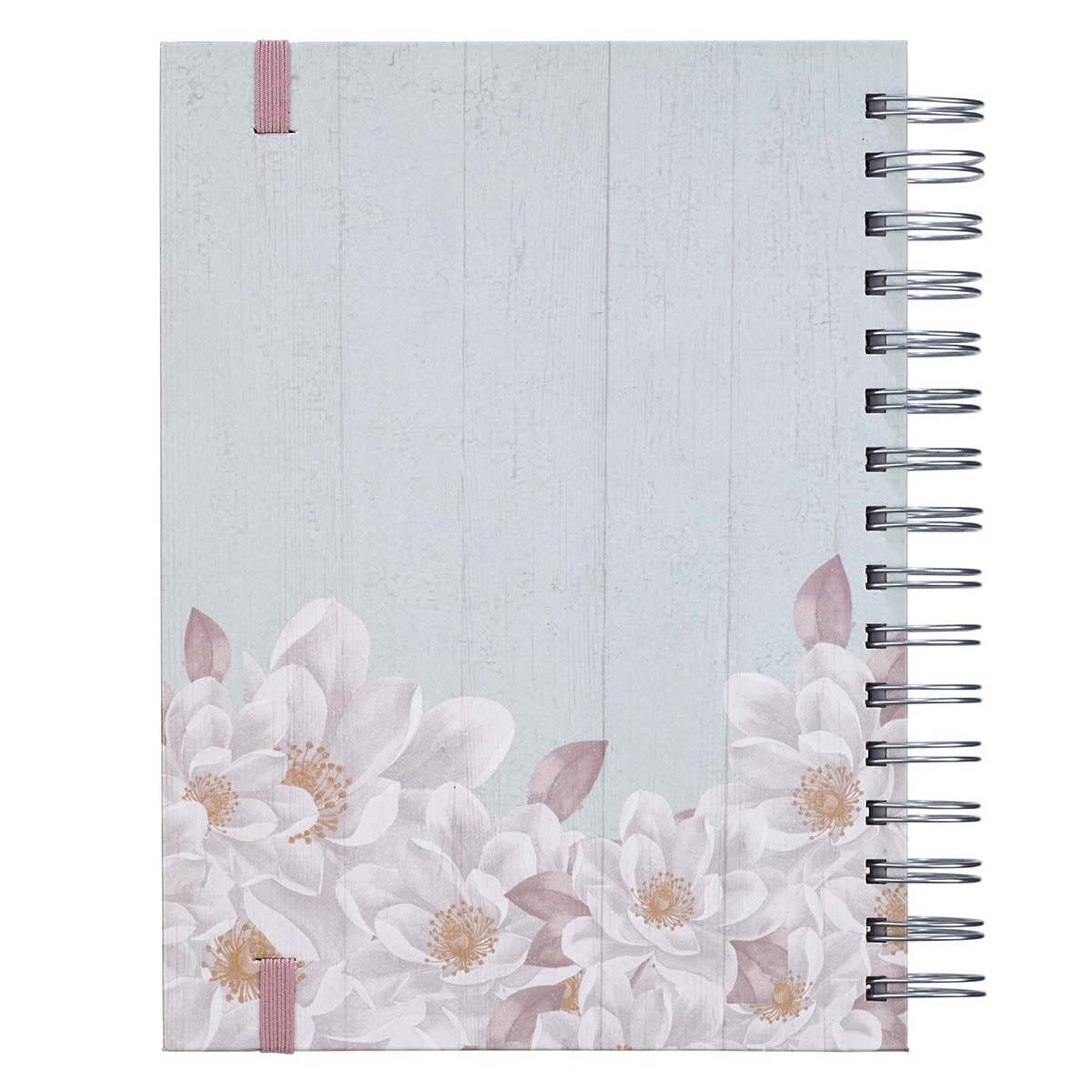 Unfading Beauty Large Wirebound Journal with Elastic Closure - 1 Peter 3:4