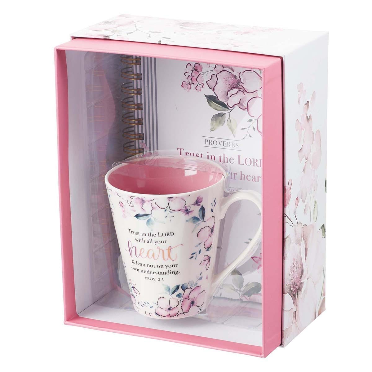 Trust in the LORD Journal and Mug Boxed Gift Set for Women - Proverbs 3:5