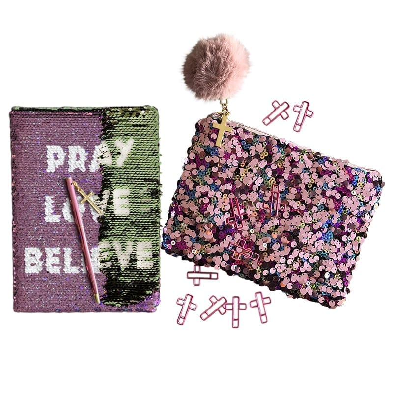 Shine Bright Stationery and Pencil bag Gift Set